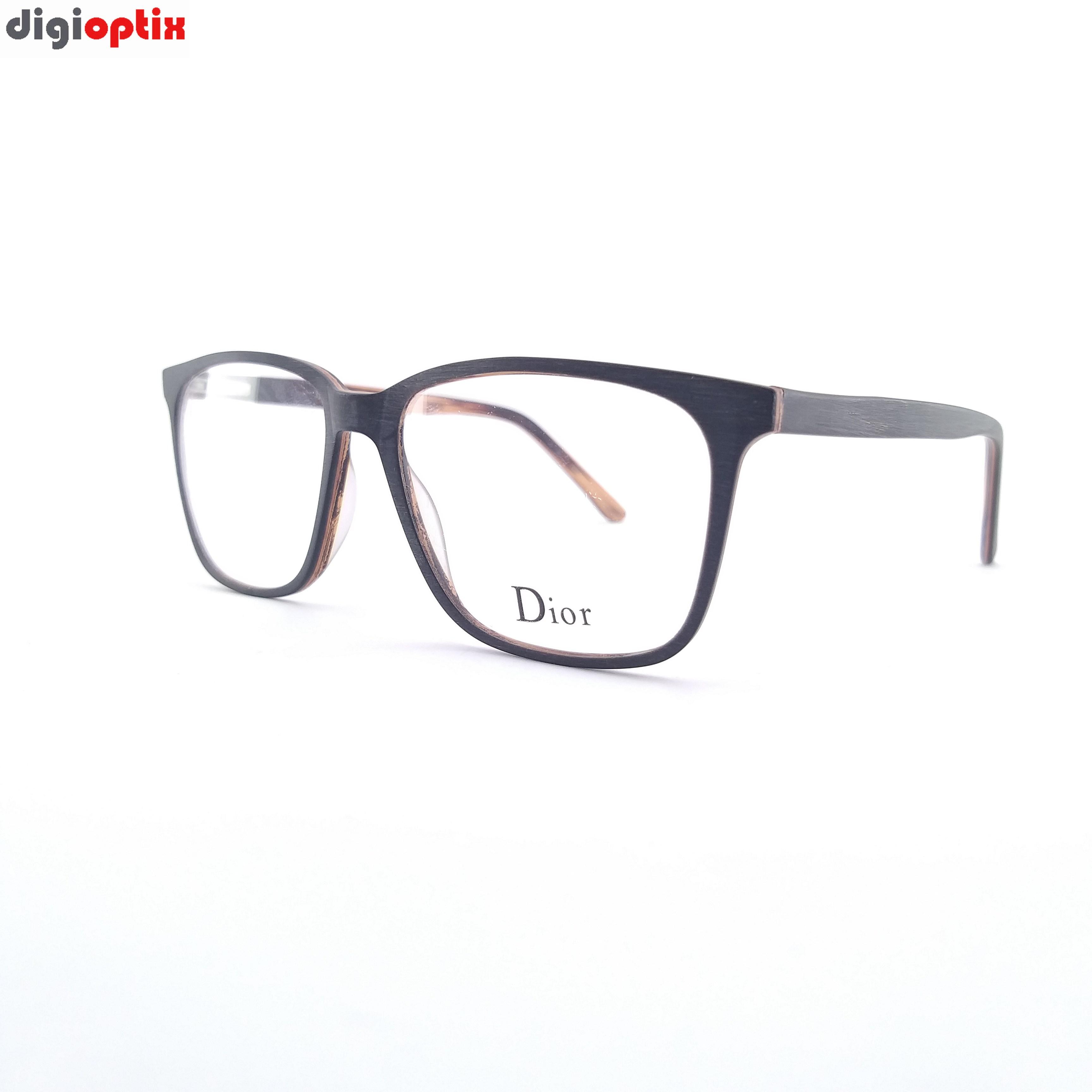 فریم عینک طبی کائوچویی مارک Dior رنگ چوبی مدل F1766