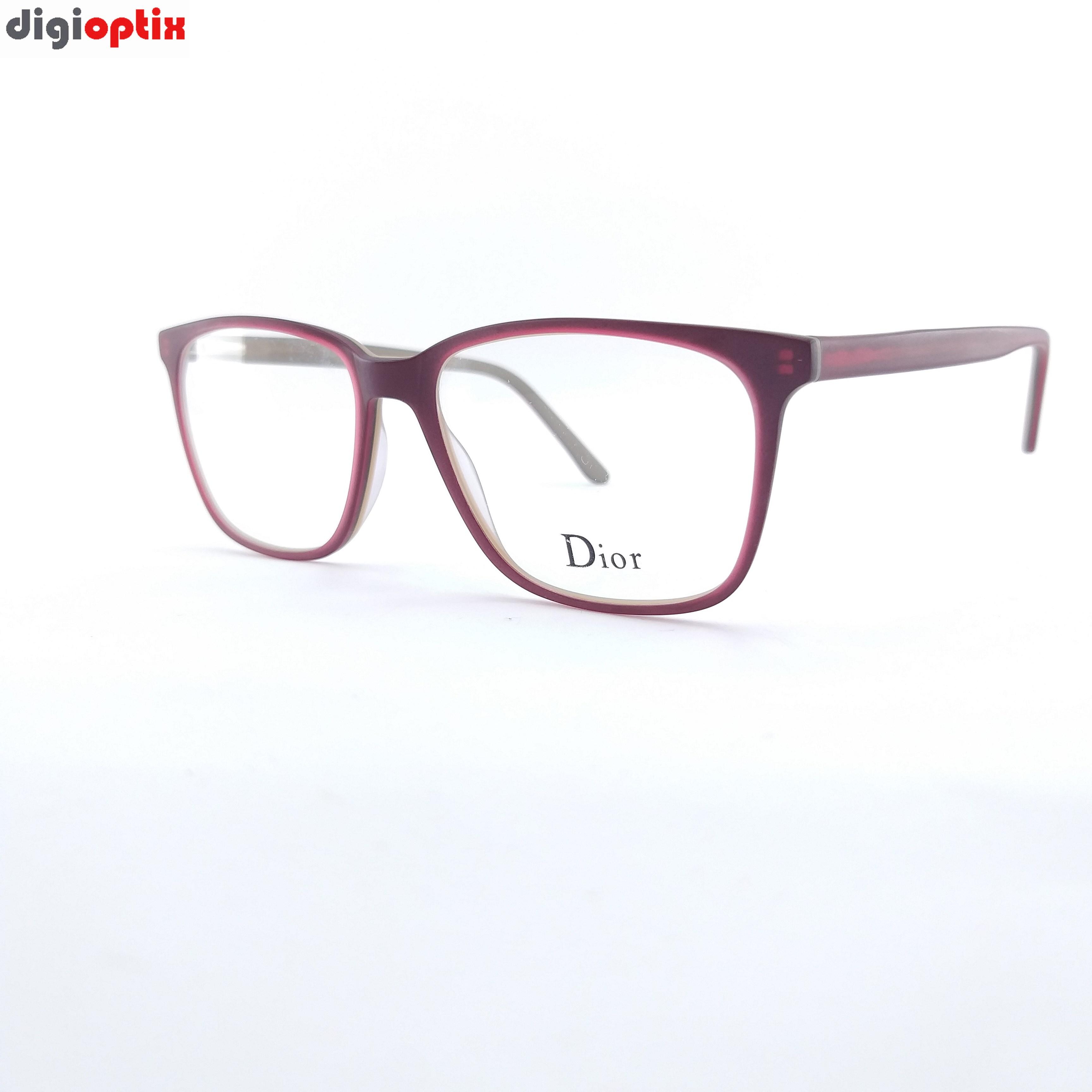 فریم عینک طبی کائوچویی مارک Dior رنگ جگری مدل F1766