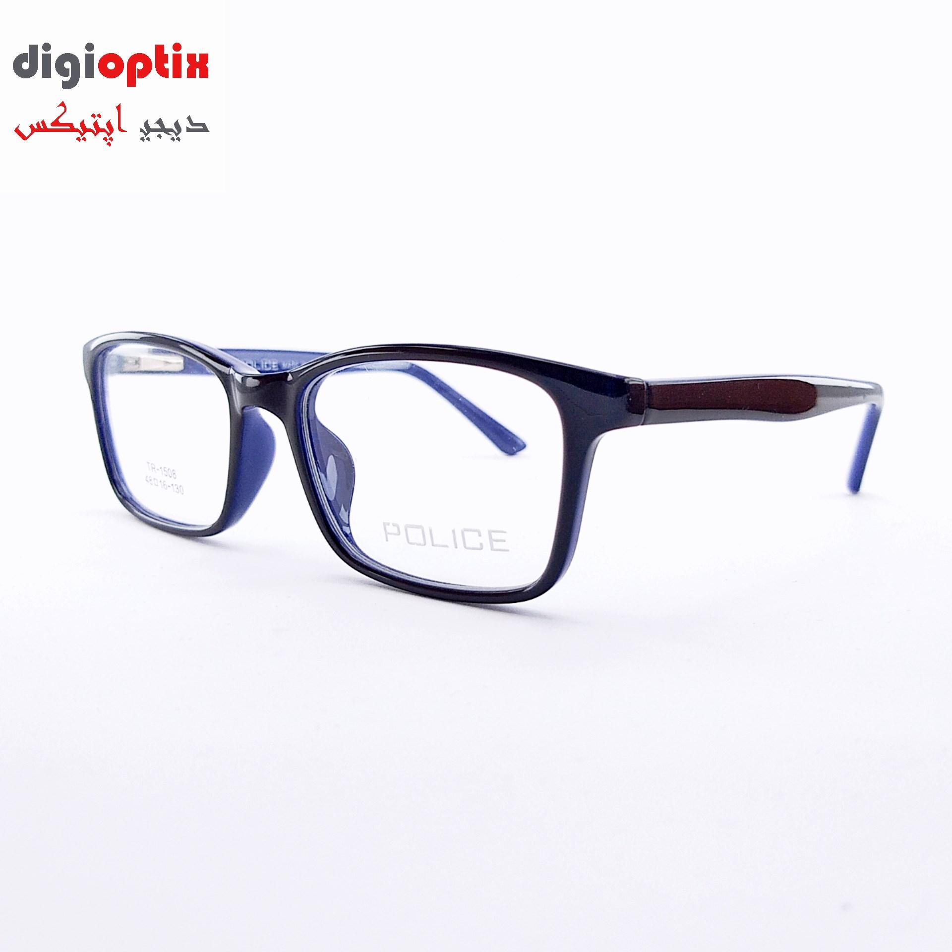 فریم عینک طبی بچگانه استات مارک POLICE رنگ مشکی مات - آبی مدل TR-1503