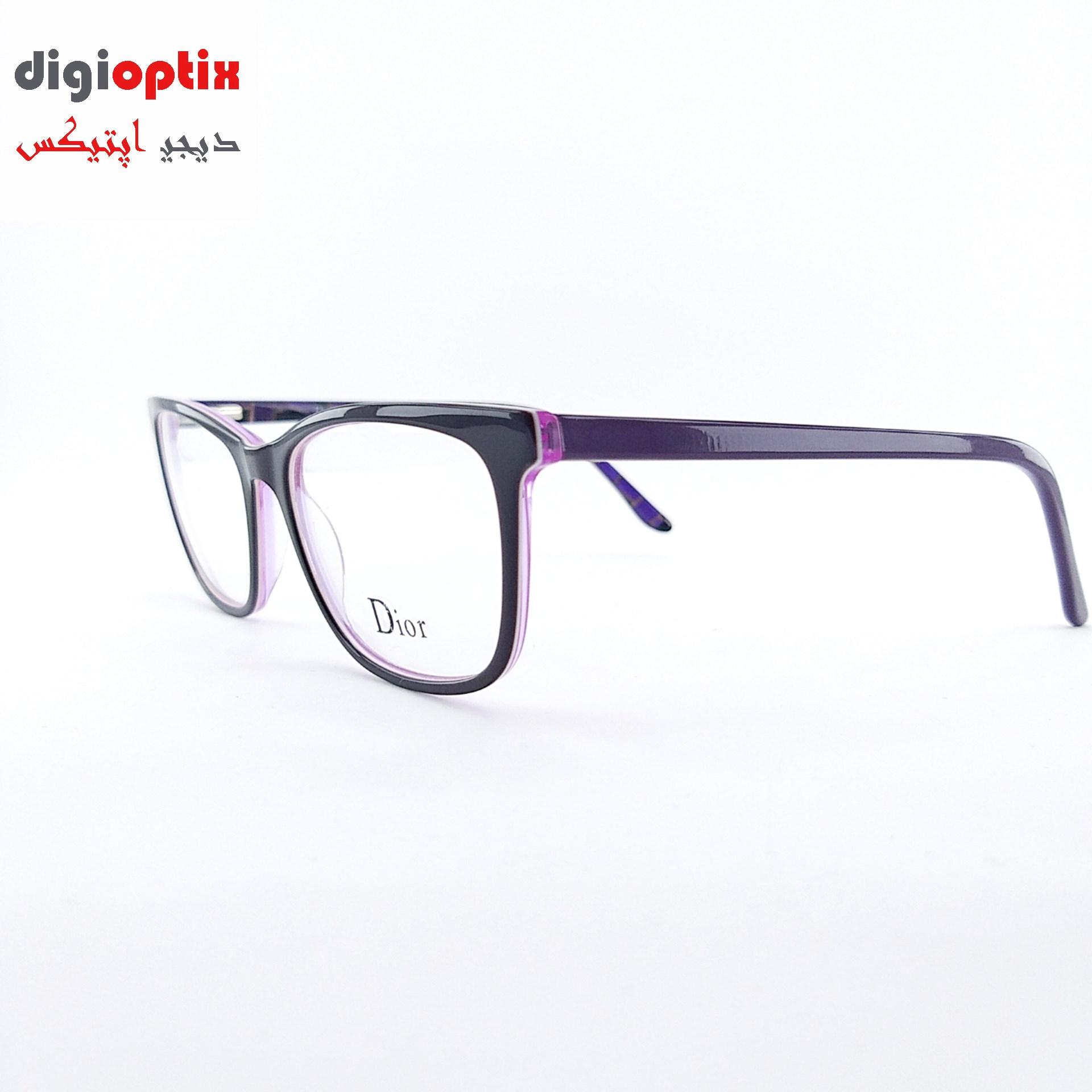 فریم عینک طبی استات مارک Dior رنگ بنفش مدل F1711