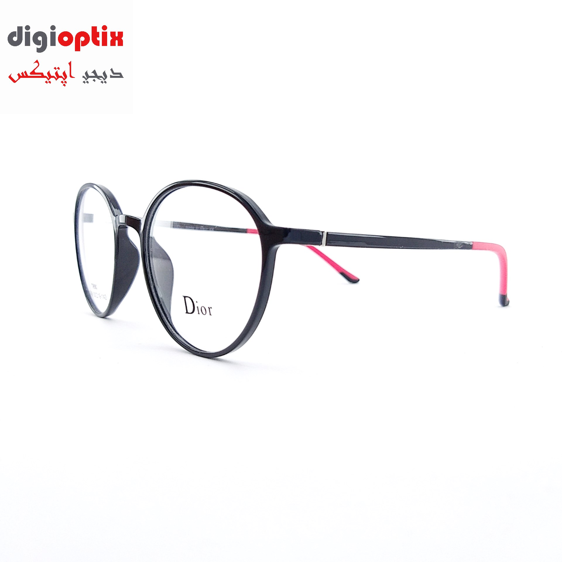 فریم عینک طبی TR90 مارک Dior رنگ مشکی براق مدل 8048