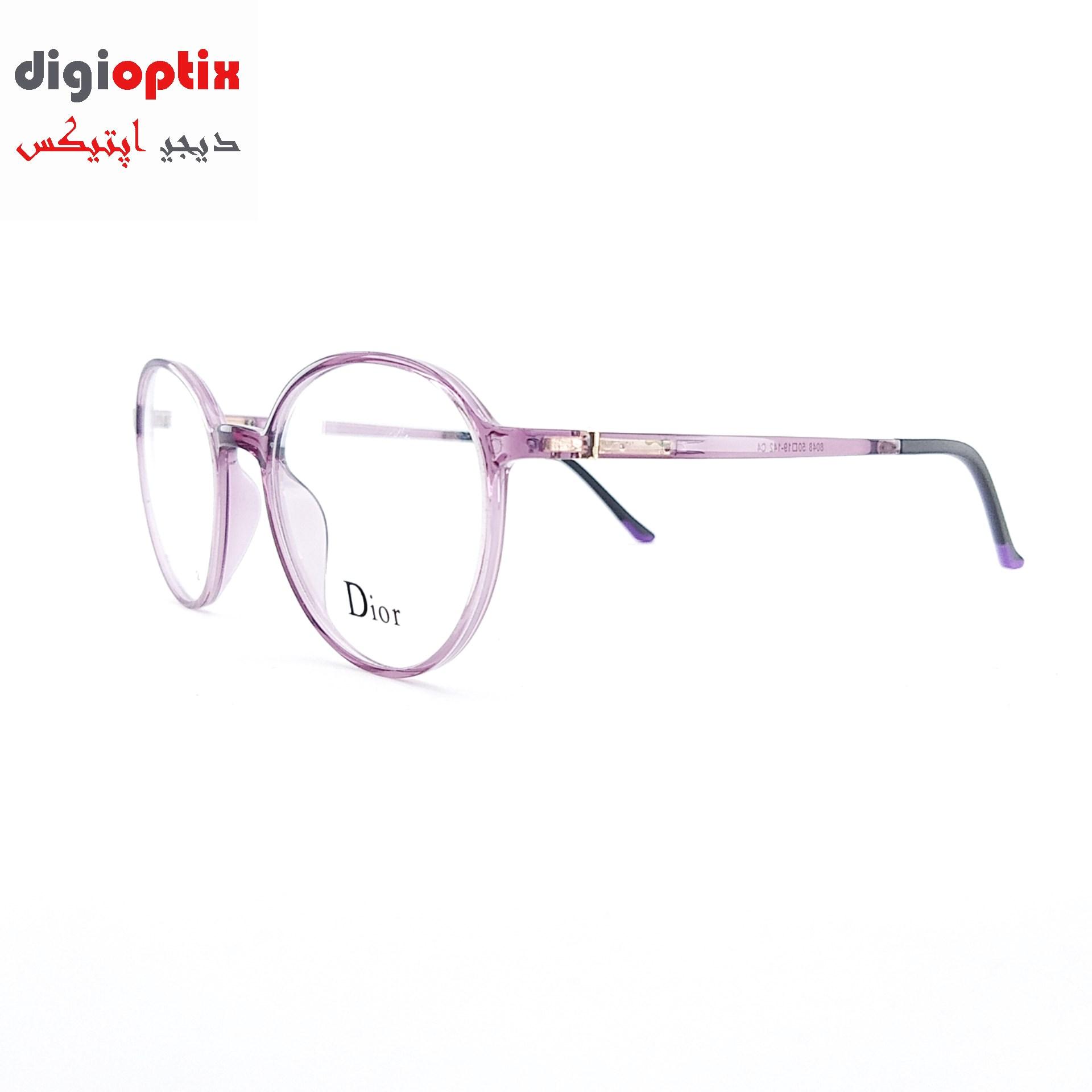 فریم عینک طبی TR90 مارک Dior رنگ بنفش شفاف مدل 8048