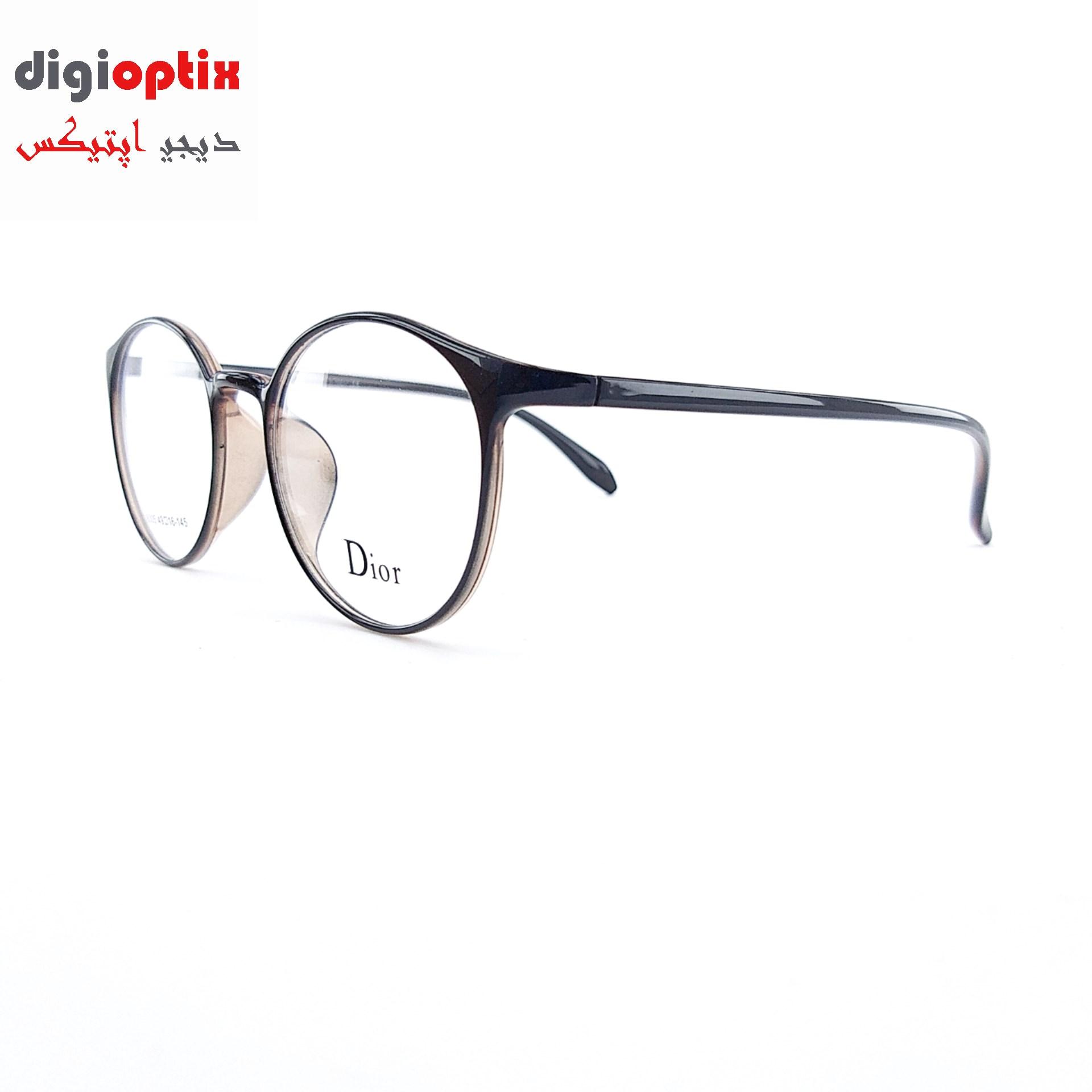 فریم عینک طبی TR90 مارک Dior رنگ قهوه ای تیره مدل 8005