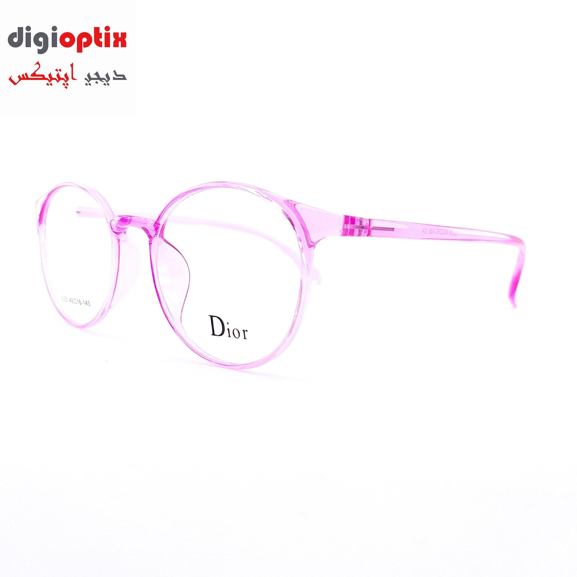 فریم عینک طبی TR90 مارک Dior رنگ صورتی شفاف مدل 8005