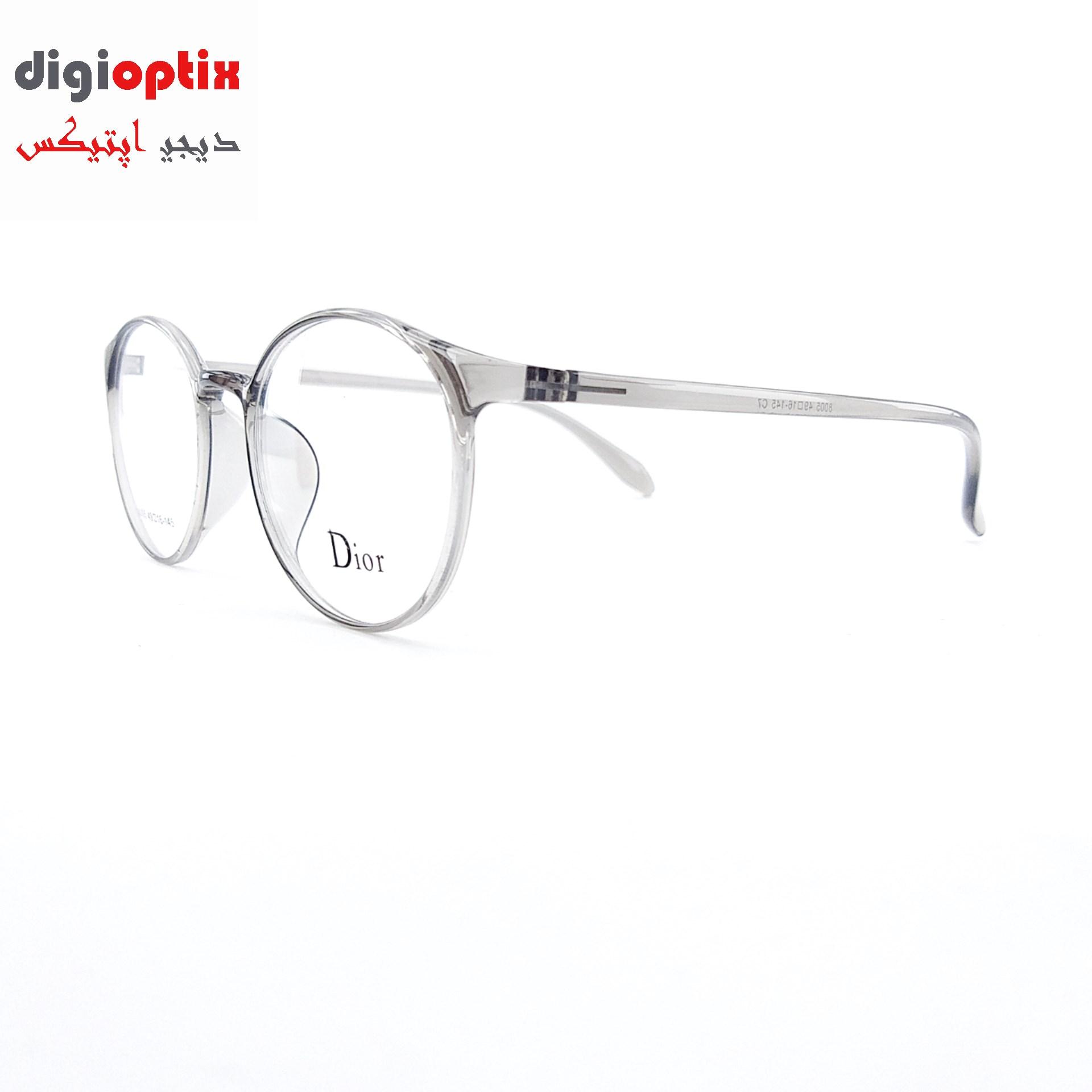 فریم عینک طبی TR90 مارک Dior رنگ طوسی شفاف مدل هری پاتر