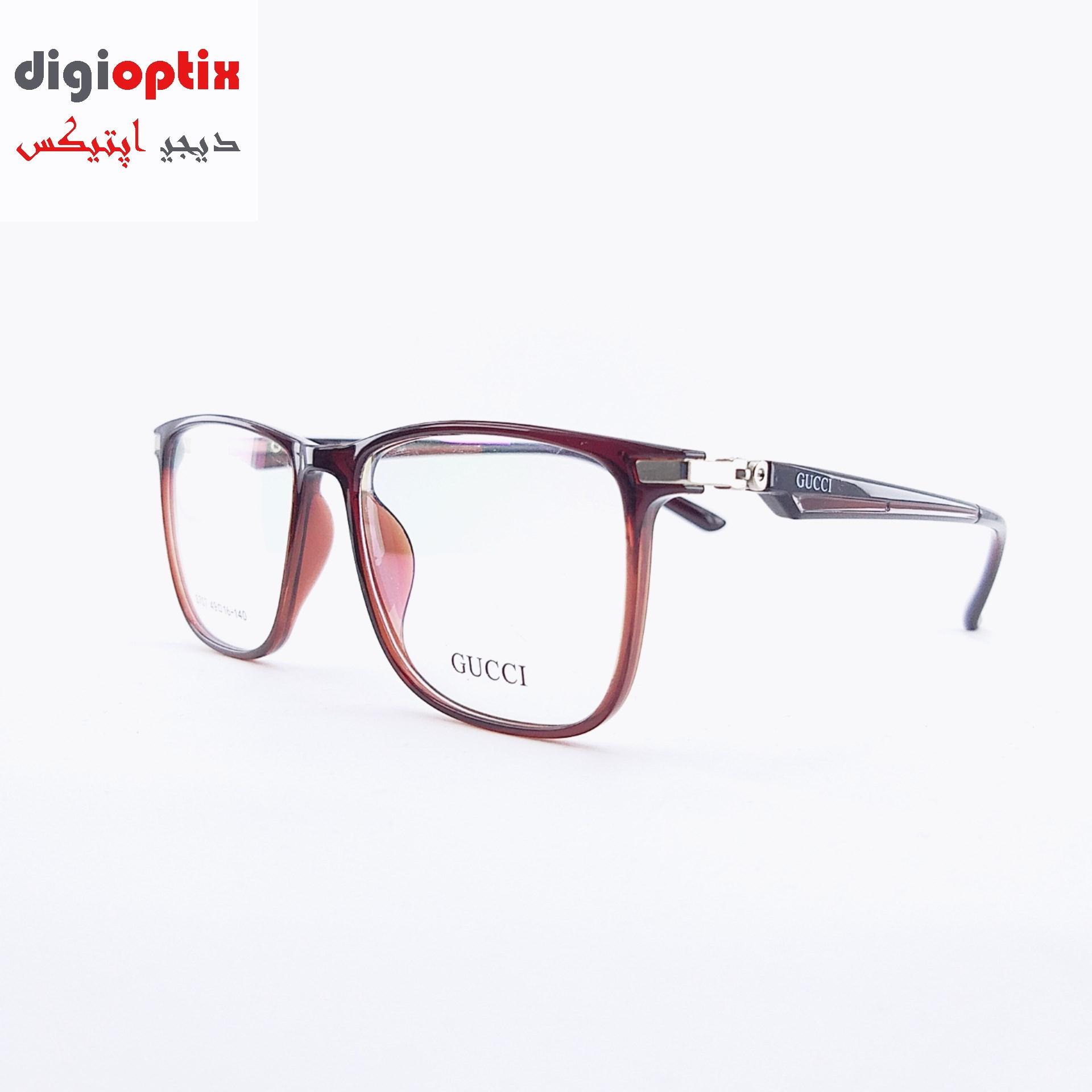 فریم عینک طبی ویفری مارک GUCCI رنگ قهوه ای مدل S707