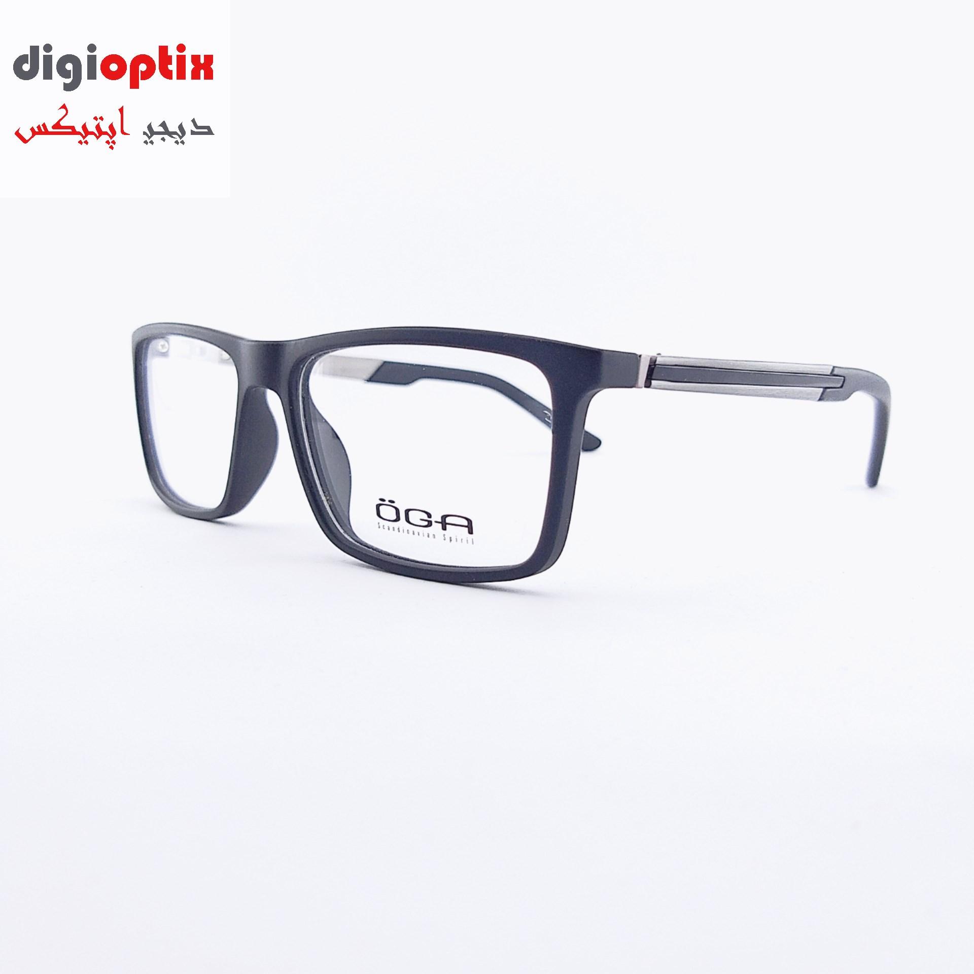 فریم عینک طبی مارک OGA رنگ مشکی silver مدل 77672c3
