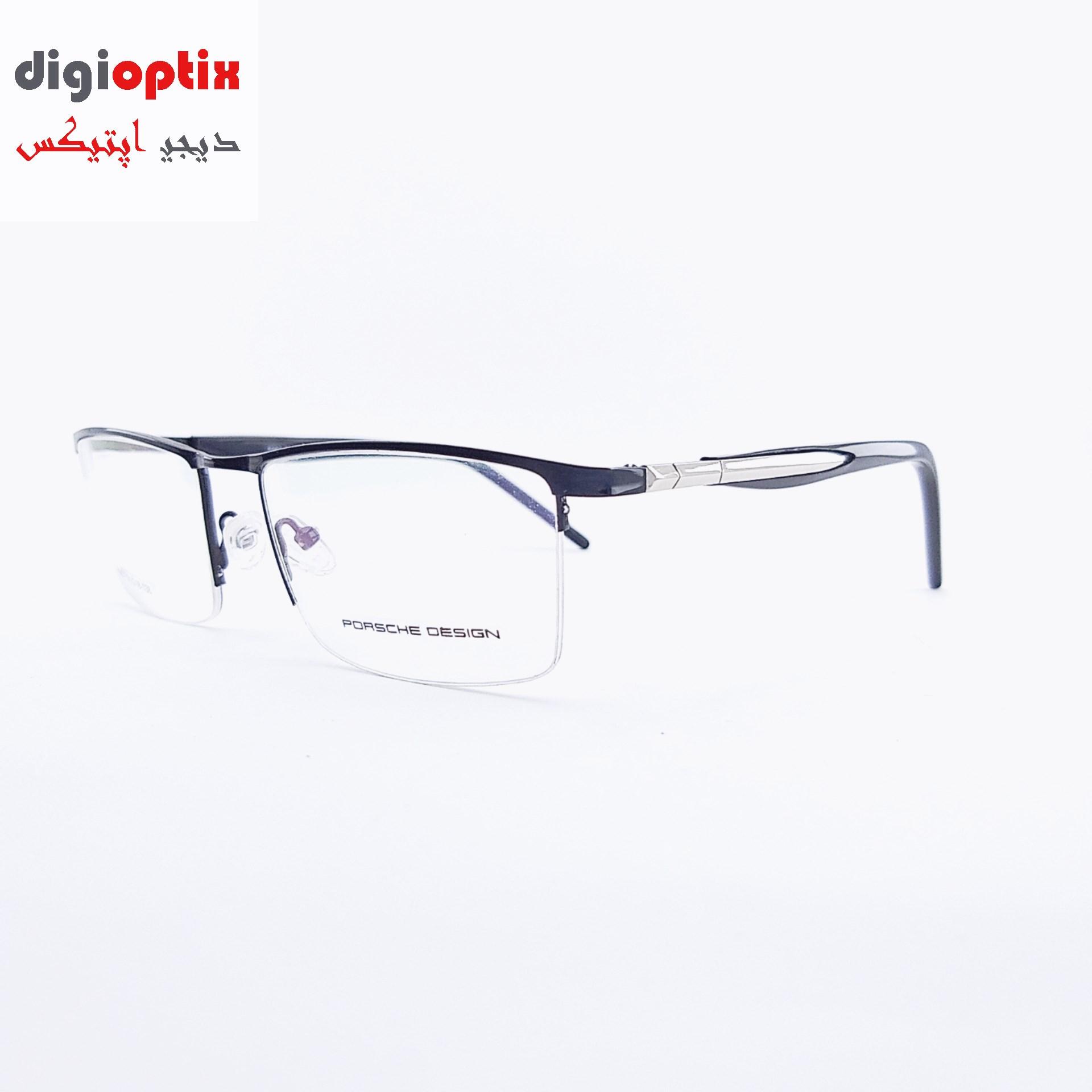 فریم عینک طبی مارک PORSCHE DESIGN رنگ مشکی مدل 8007