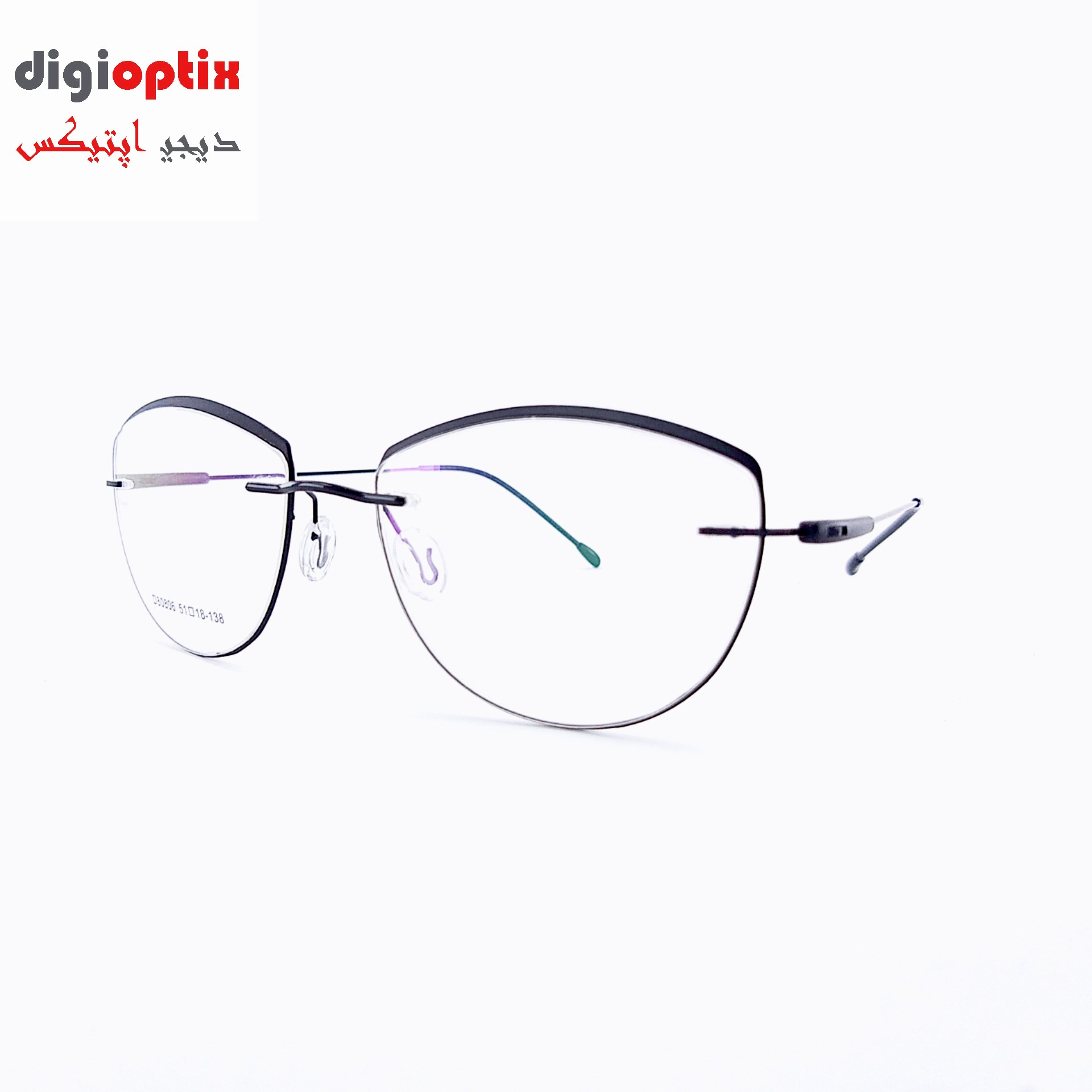 فریم ریم لس عینک طبی فانتزی 2020 مدل 80806