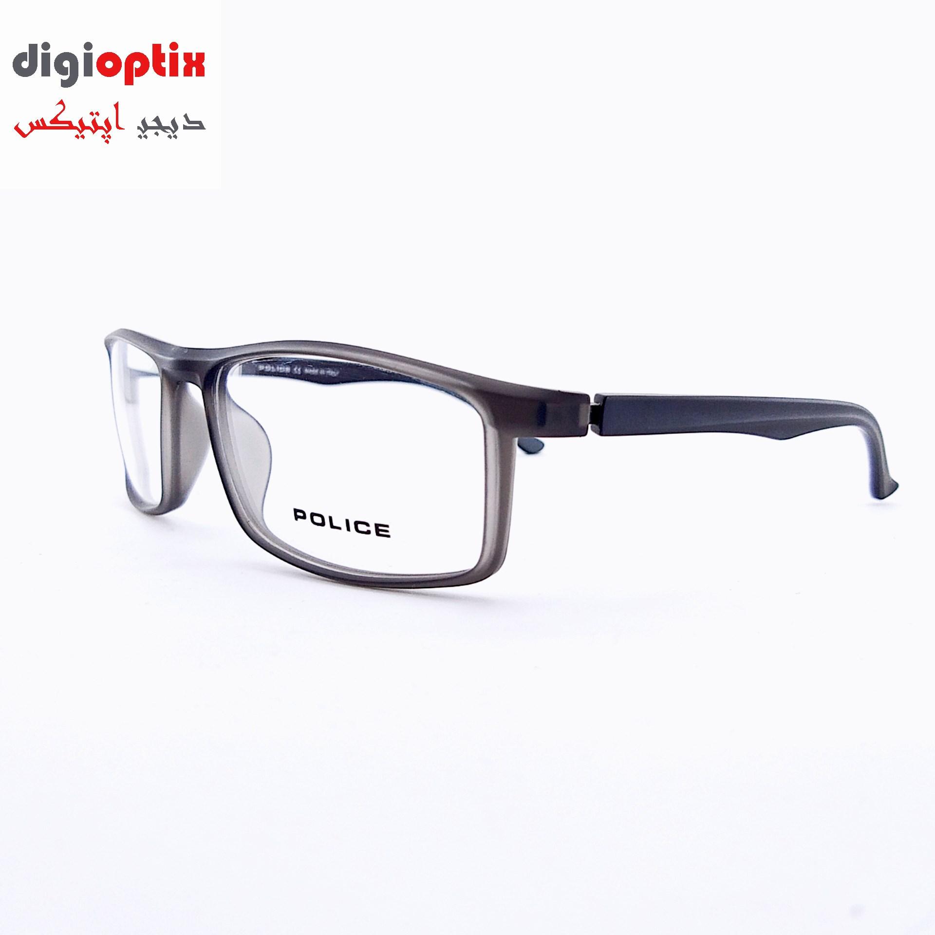 فریم عینک طبی اسپورت مارک POLICE رنگ خاکستری مات مدل H86
