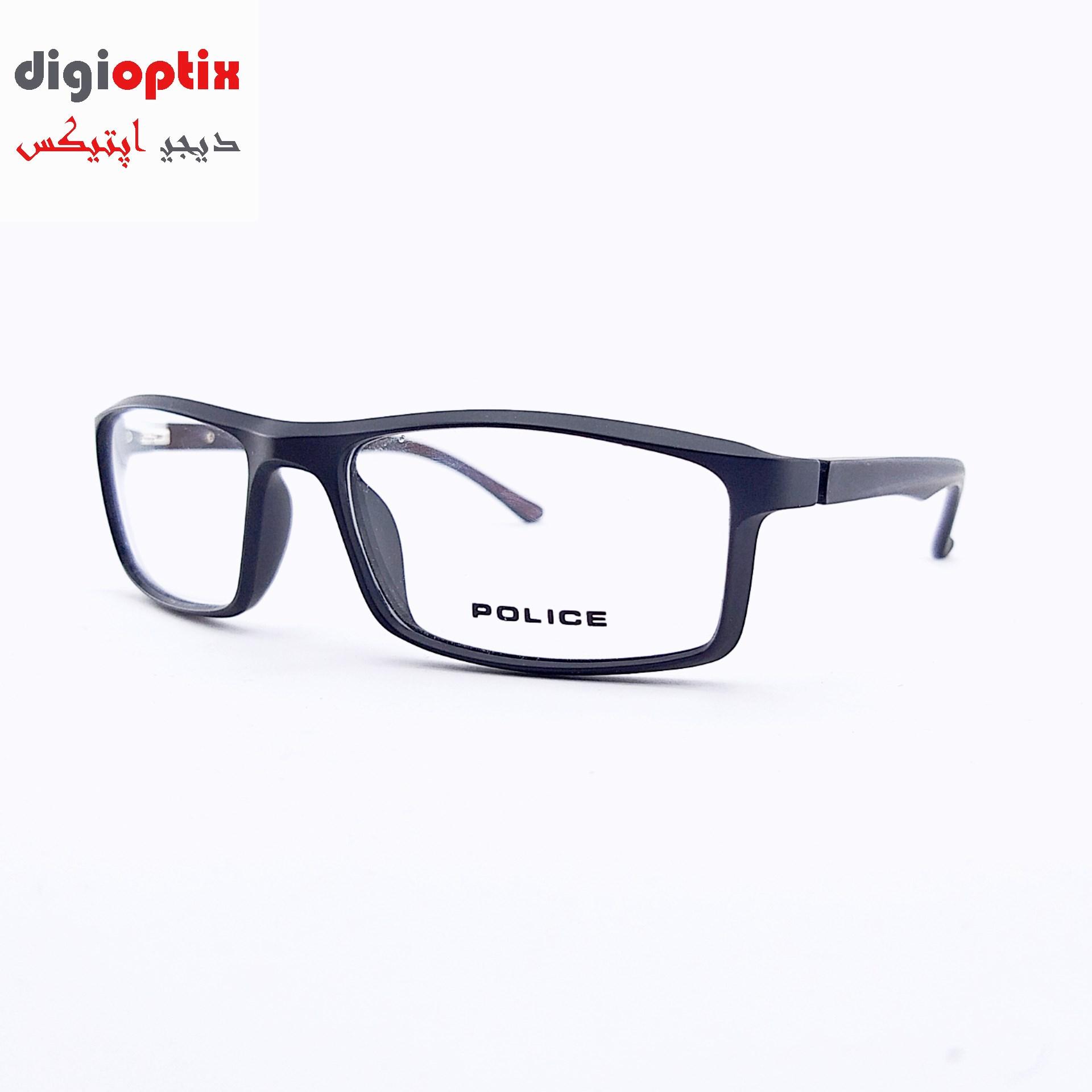 فریم عینک طبی اسپورت مارک POLICE رنگ مشکی مات مدل H86