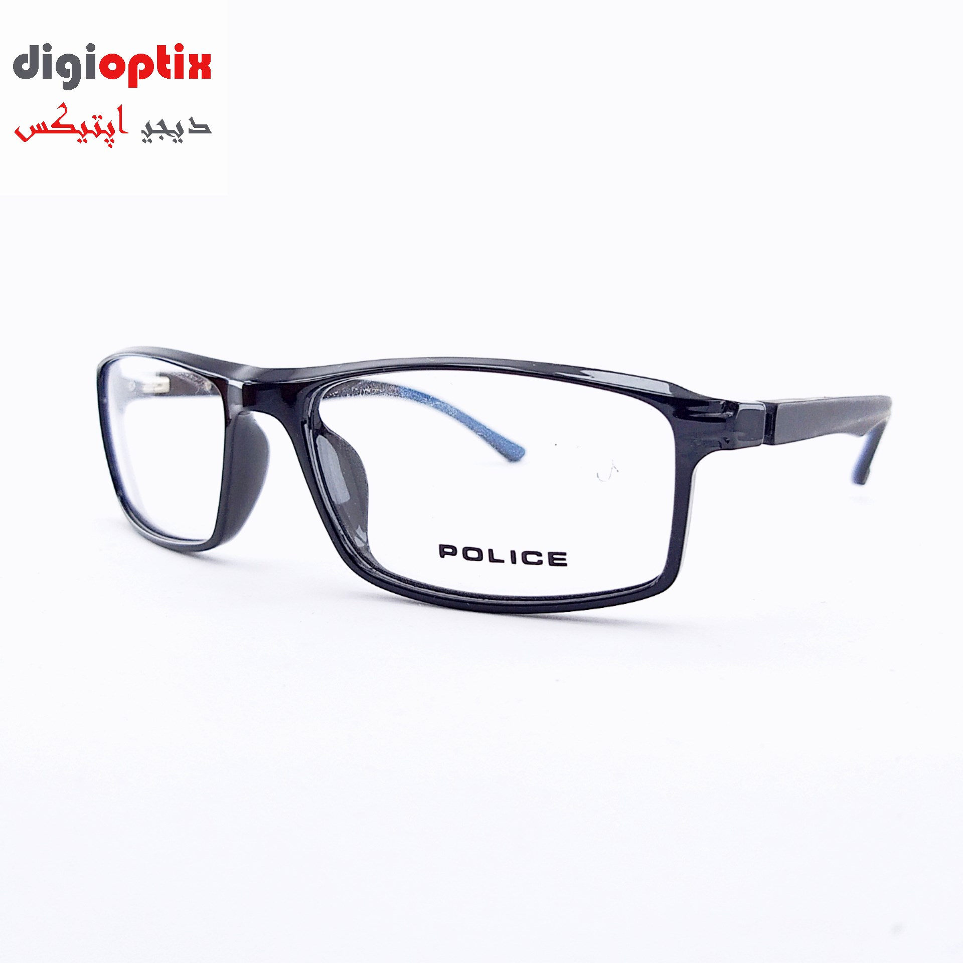 فریم عینک طبی اسپورت مارک POLICE رنگ مشکی براق مدل H86