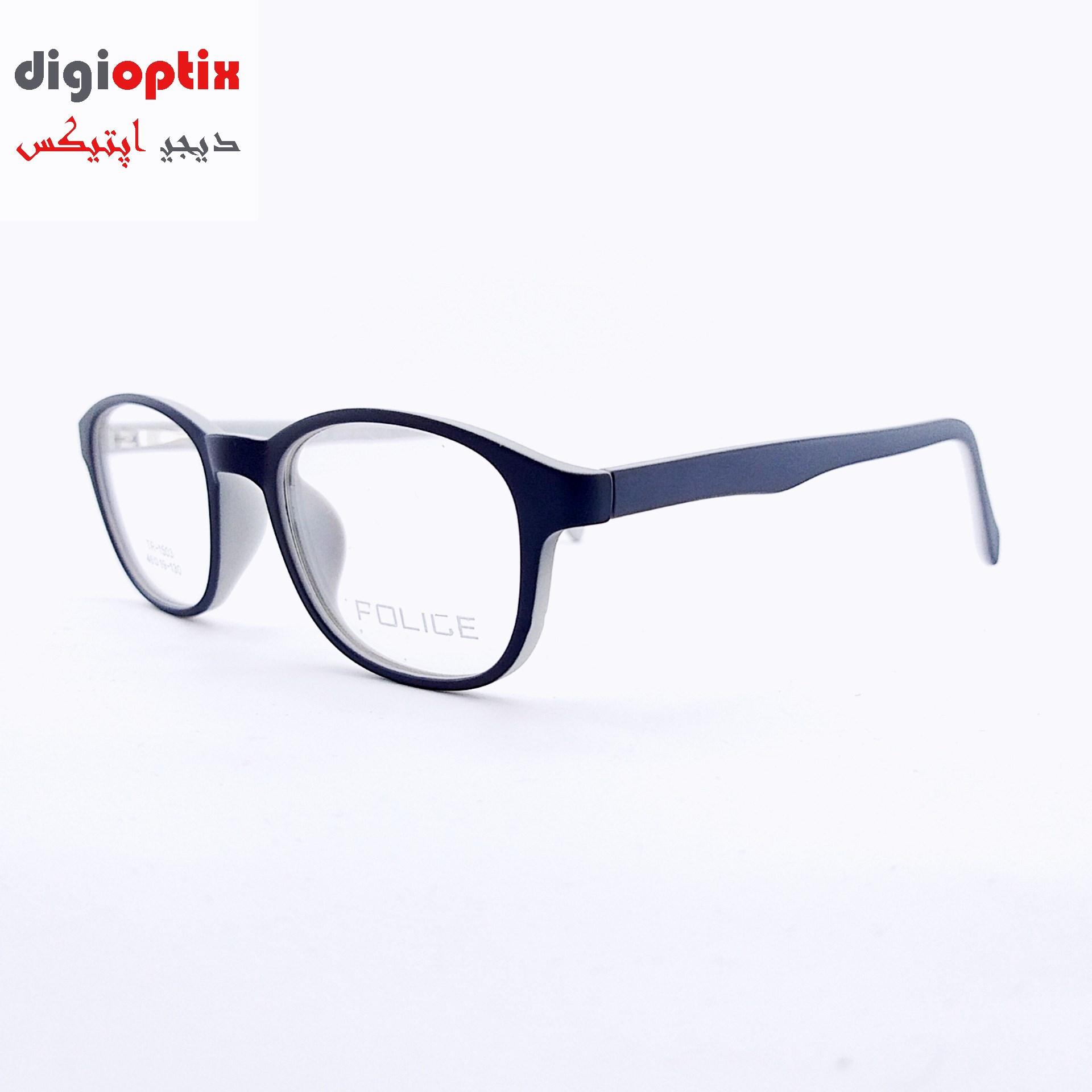 فریم عینک طبی بچگانه استات مارک POLICE رنگ طوسی- سفید مدل TR-1503