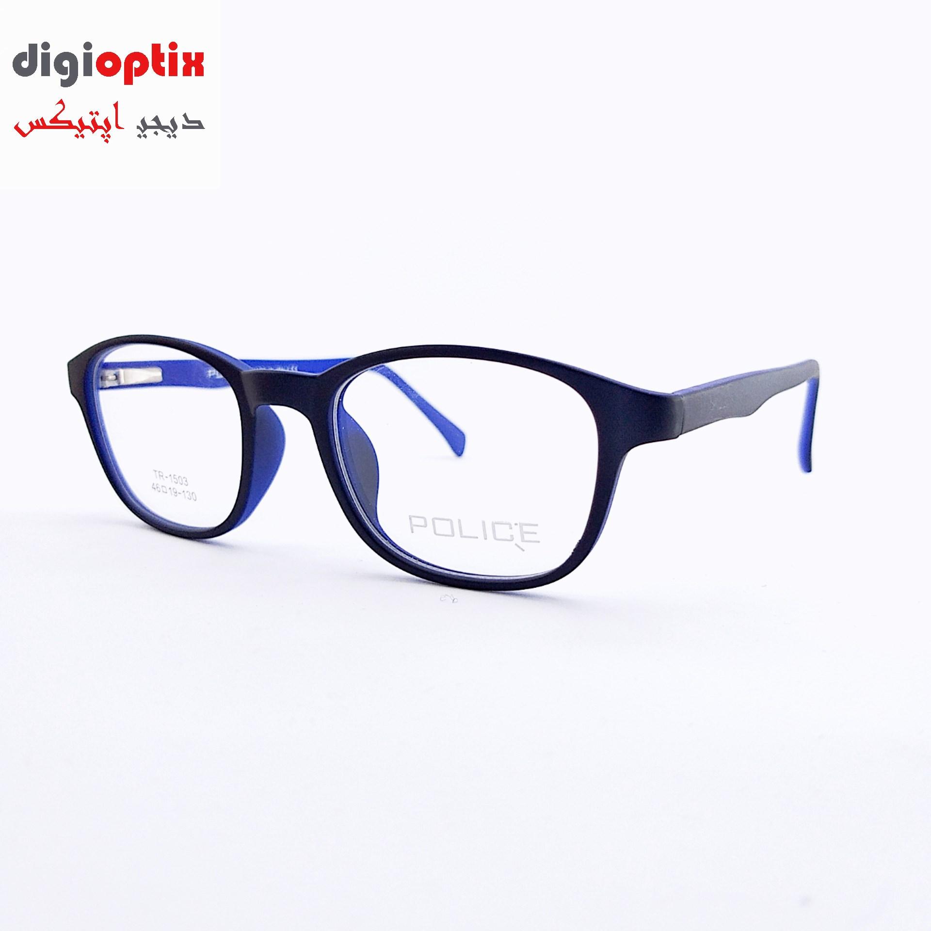 فریم عینک طبی بچگانه استات مارک POLICE رنگ مشکی - آبی مدل TR-1508