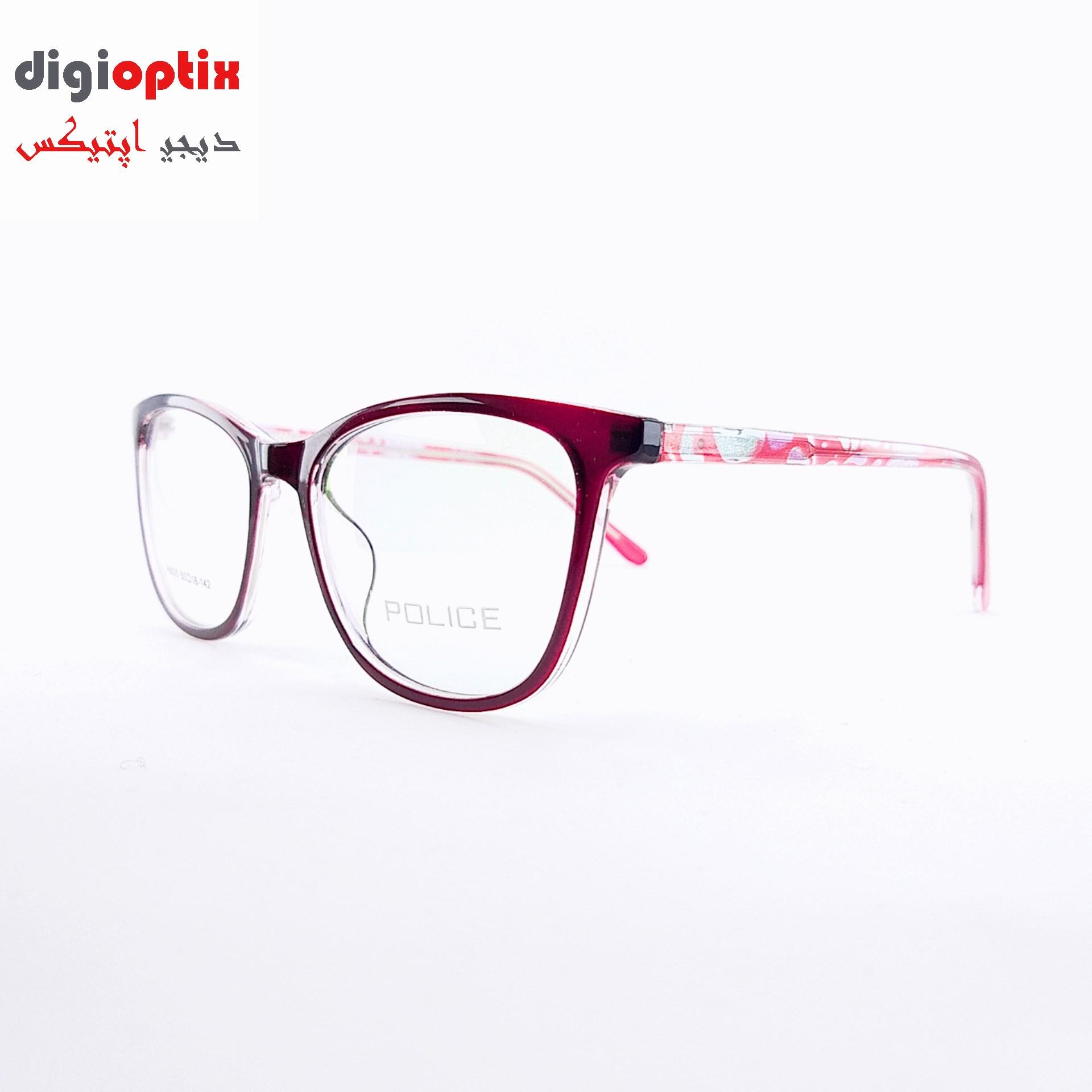 فریم عینک طبی استات مارک POLICE  رنگ قرمز مدل P8005