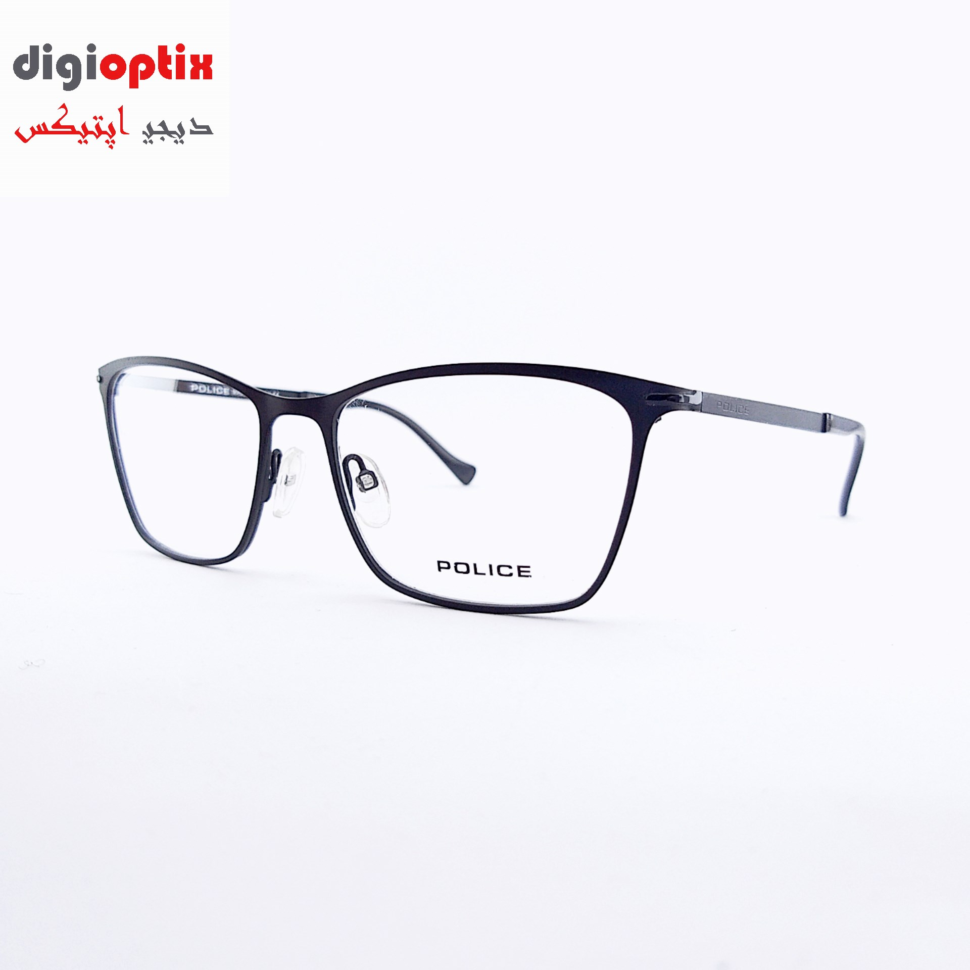فریم عینک طبی فلزی مارک POLICE رنگ مشکی مدل VPL051