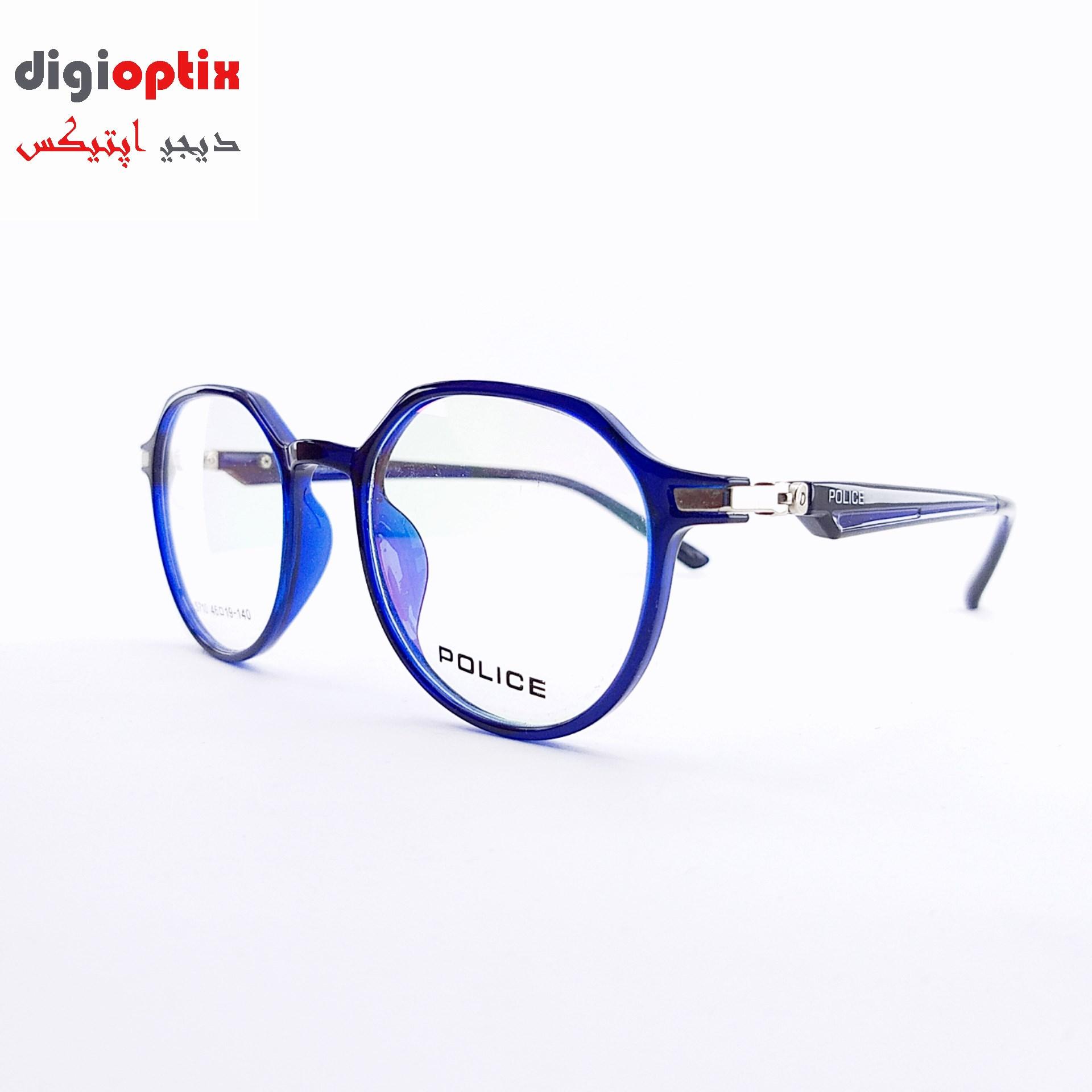 فریم عینک طبی مارک POLICE رنگ آبی مدل S-710
