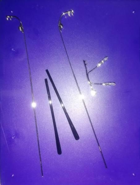 قطعات فریم عینک ریم لس نقره ای